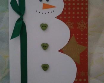 Картичка Снежен човек 1